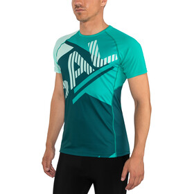 Salming Bold Print Camiseta Hombre, deep teal/lapis